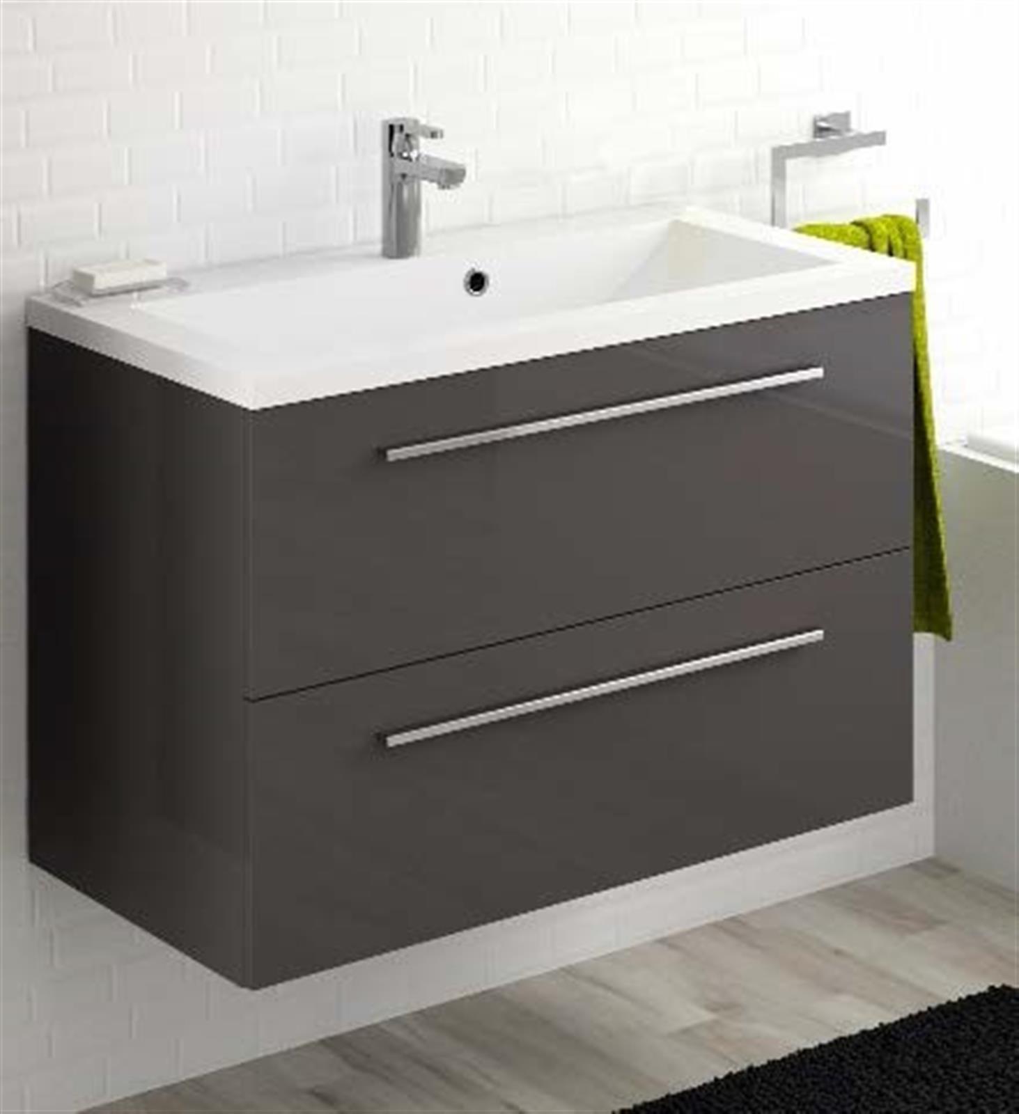 Meuble sous vasque 2 tiroirs 80 cm s rie adesio 3 - Vide sanitaire meuble cuisine ...