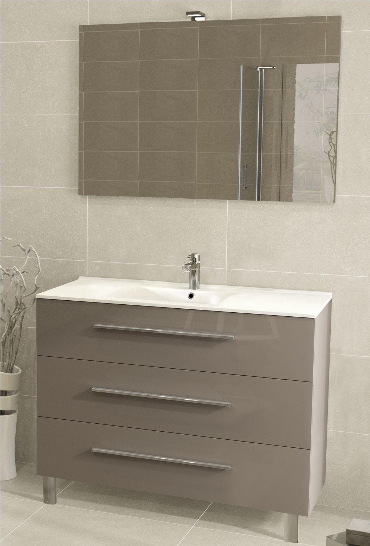 Meuble sous vasque 3 tiroirs 100 cm s rie adesio 3 - Vide sanitaire meuble cuisine ...