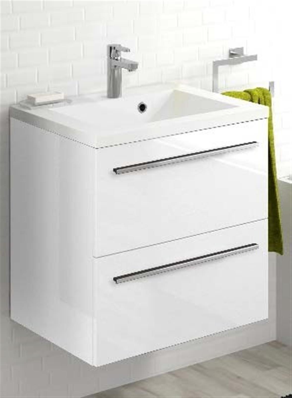 Meuble sous vasque 2 tiroirs 60 cm s rie adesio 3 - Vide sanitaire meuble cuisine ...
