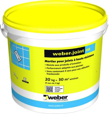 Mortier pour joints de carrelage weber joint hr weber for Joint carrelage hydrofuge weber
