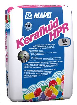 Mortier colle pour le carrelage c2 kerafluid hpr mapei for Colle carrelage c2