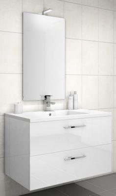 meuble sous vasque loft 2 tiroirs de 90 cm discac. Black Bedroom Furniture Sets. Home Design Ideas