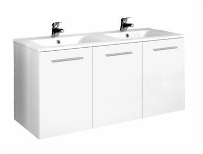 Meuble sous vasque 3 portes 120 cm srie adesio 3 for Meuble sanitaire