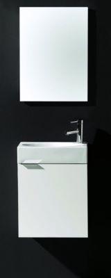 meuble wc smart 45 avec lave mains et miroir royo royo. Black Bedroom Furniture Sets. Home Design Ideas