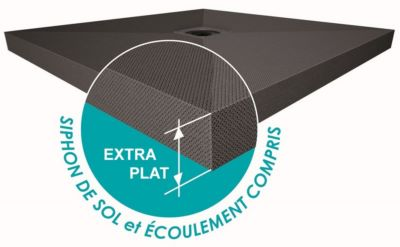 Receveur carreler panodur slim extra plat 60 mm bonde - Receveur lazer ...