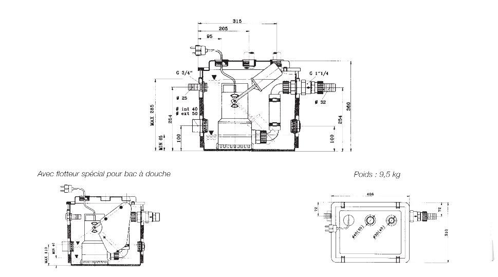 poste de relevage pour eaux claires et eaux uses novabox jetly. Black Bedroom Furniture Sets. Home Design Ideas