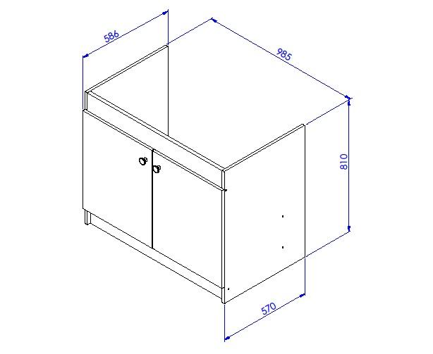 Meuble sous vier liberty en 2 ou 3 portes aquarine for Dimension lavabo cuisine