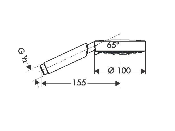 Informations techniques du produit douchette raindance s technologie