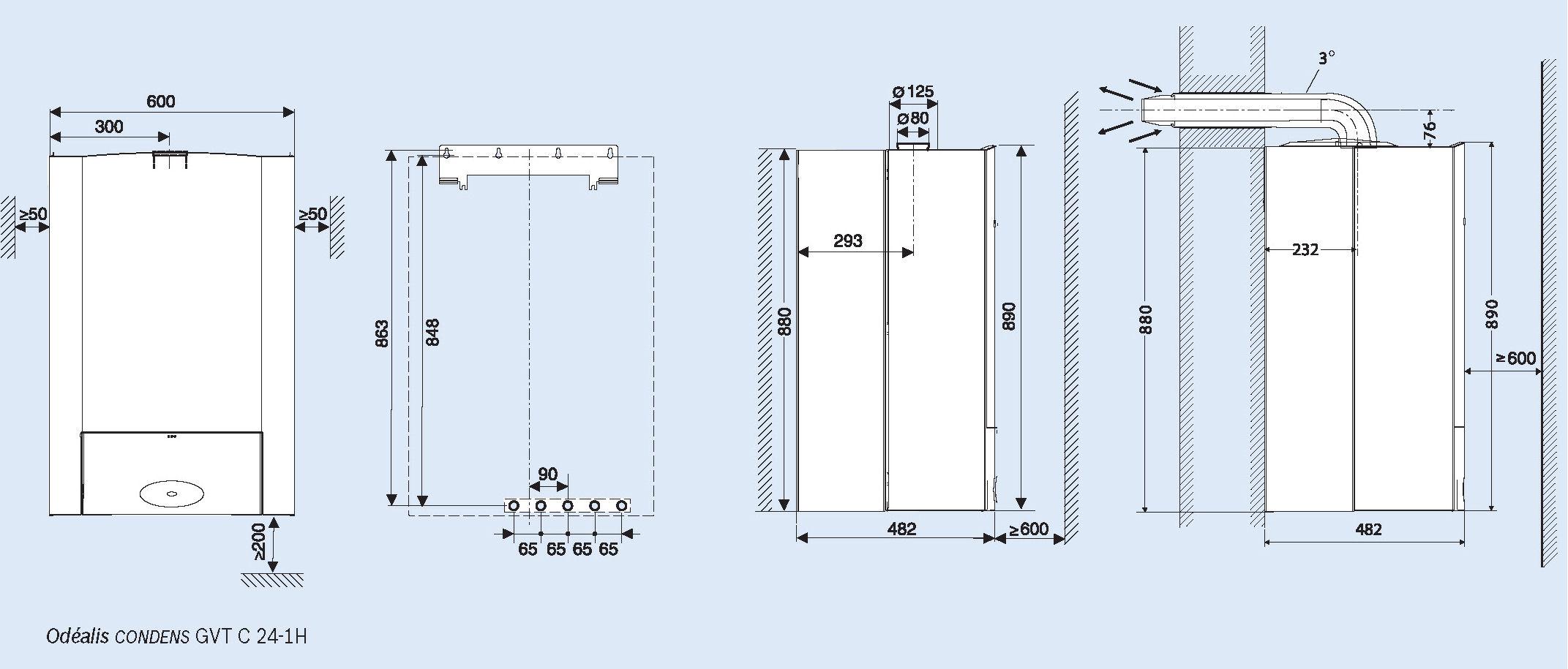 chaudire murale condensation odealis e c s elm leblanc. Black Bedroom Furniture Sets. Home Design Ideas