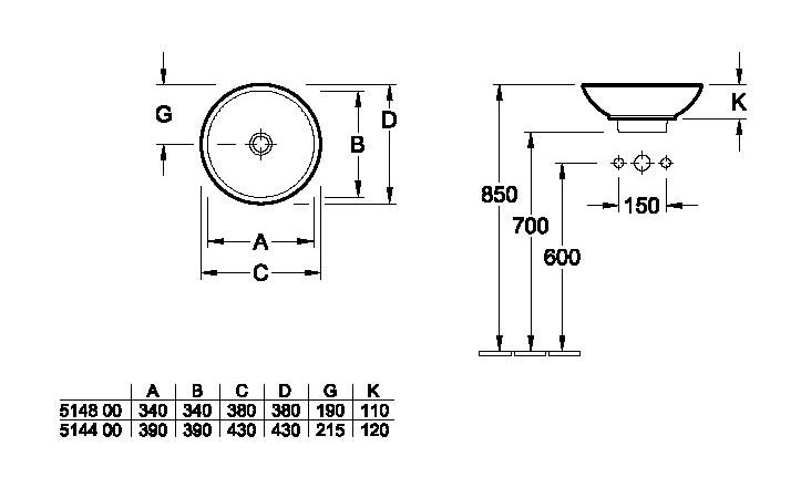 vasque loop and friends a poser villeroy et boch. Black Bedroom Furniture Sets. Home Design Ideas