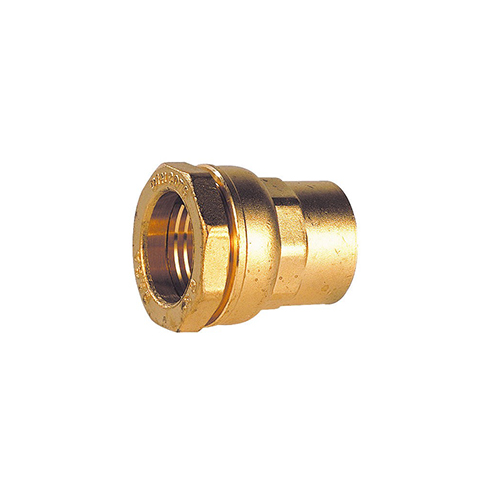 Raccord droit femelle - Série Fer - Pour raccordement polyéthylène - Diamètre 34 - 1