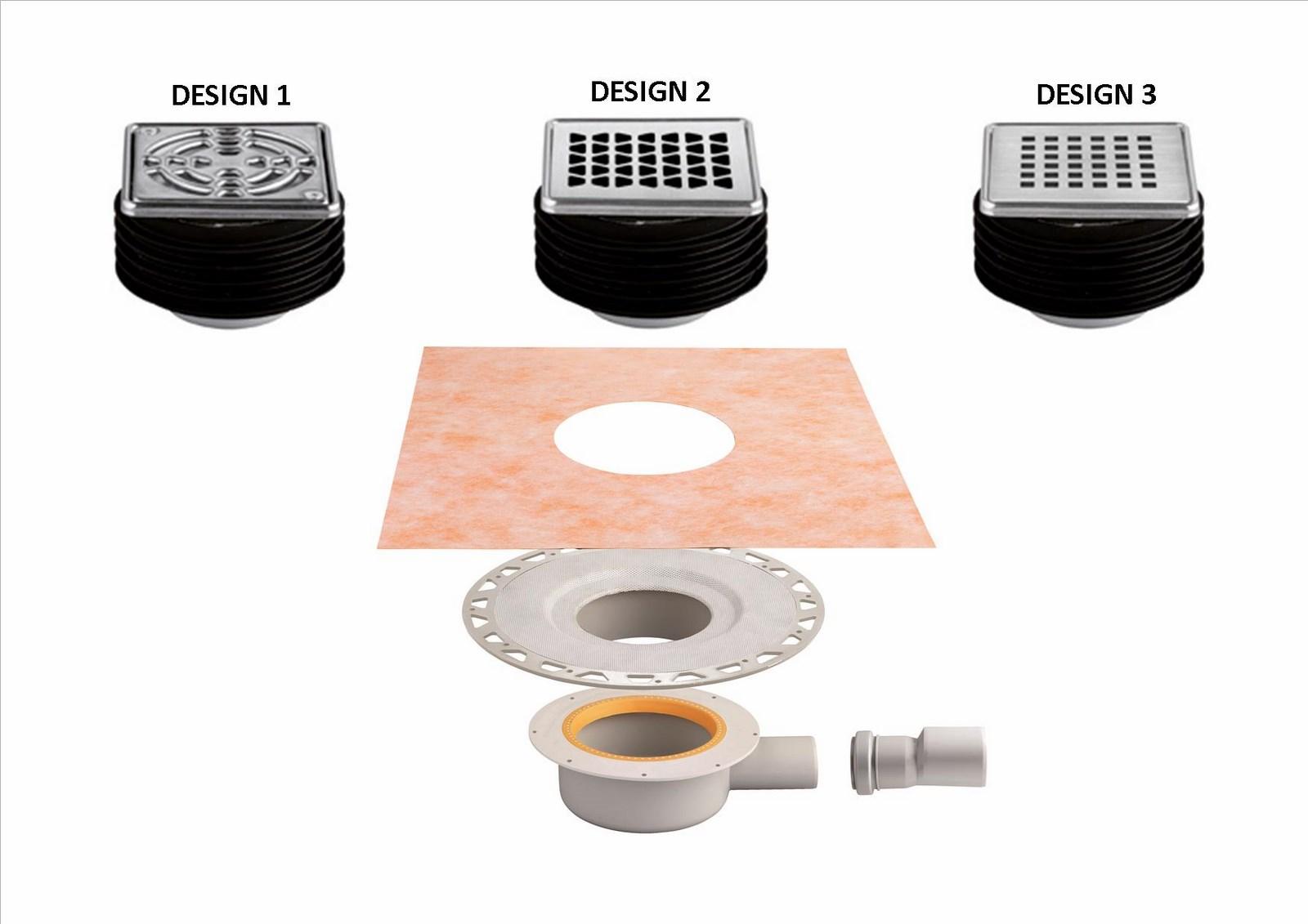 kit d vacuation pour douche l italienne extra plat sortie horizontale kerdi drain kit d. Black Bedroom Furniture Sets. Home Design Ideas