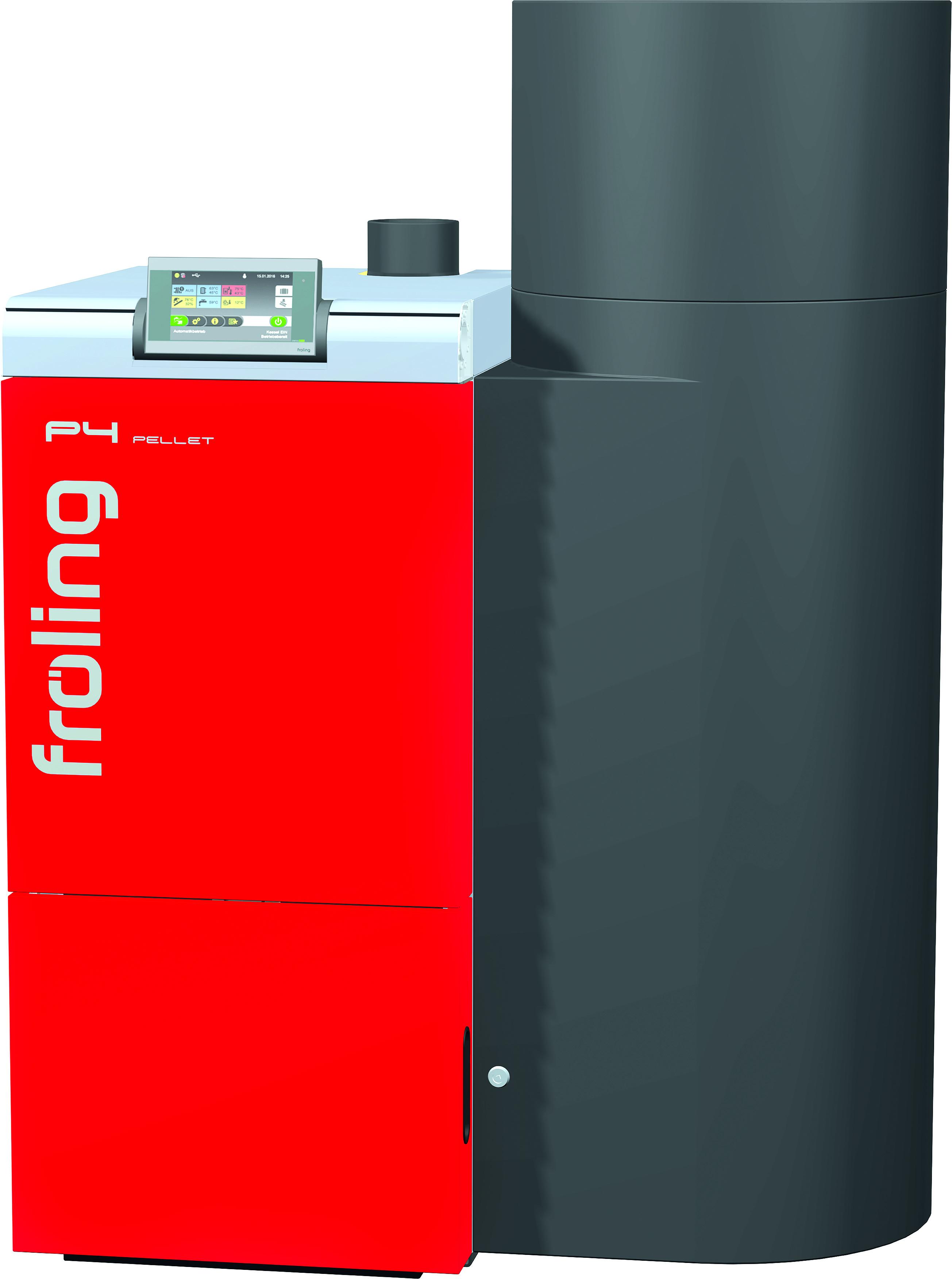 Chaudi u00e8reà granulés de bois P4 P4 Pellet 20 Puissance 20,0 kW contenance en eau 80 l  # Chaudiere Granulés De Bois