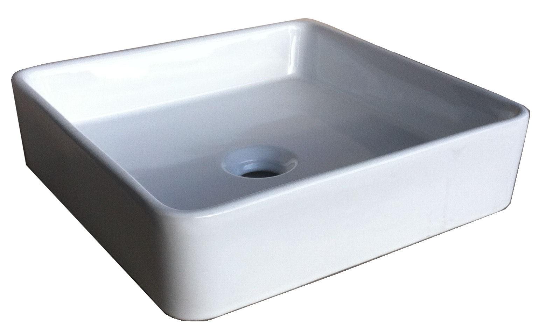 vasque poser carr couleur blanc r f vtim batipass. Black Bedroom Furniture Sets. Home Design Ideas