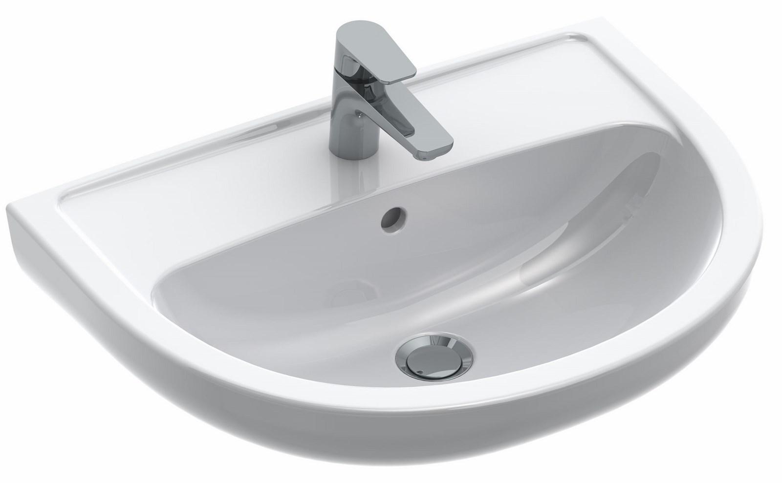 lavabo volta plus dimensions 60 x 45 5 x 18 5 cm couleur blanc r f 7g116001 batipass. Black Bedroom Furniture Sets. Home Design Ideas