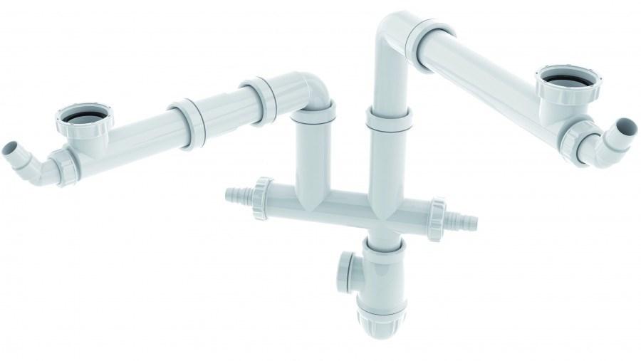 Tubulure de raccordement avec joints intégrés connectic