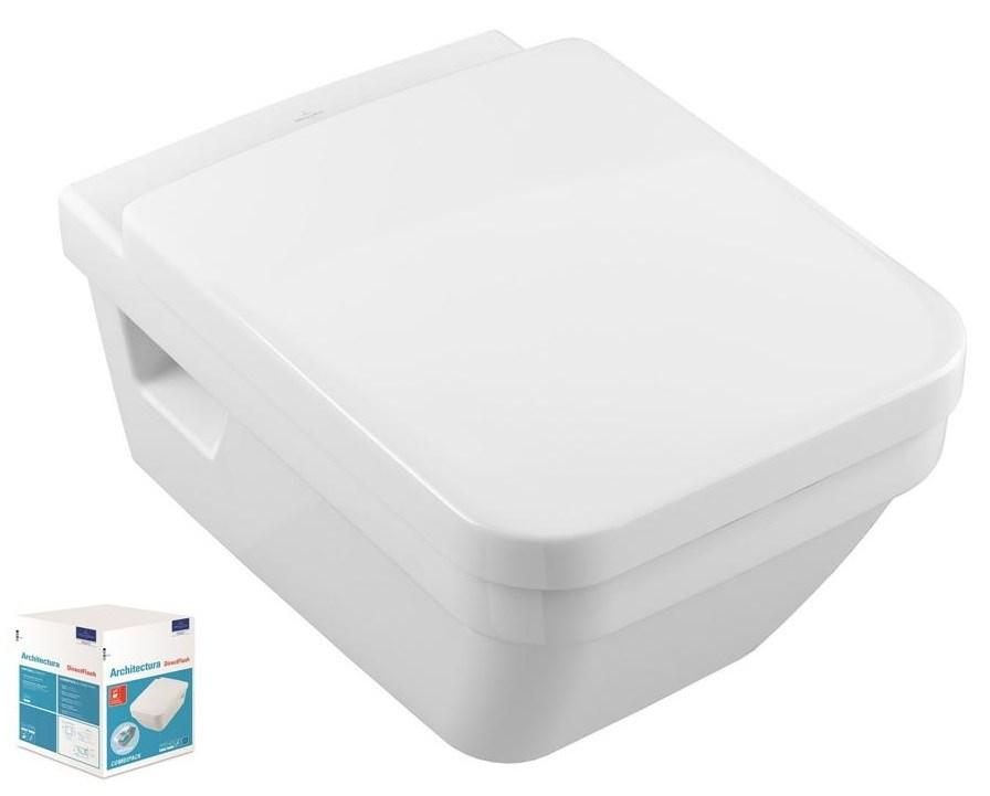 Combi Pack ARCHITECTURA Direct Flush - Couleur : BLANC
