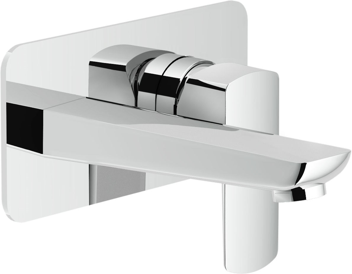 Set de finition mitigeur lavabo ACQUAVIVA à encastrer - Chromé - Bec longueur 222 mm