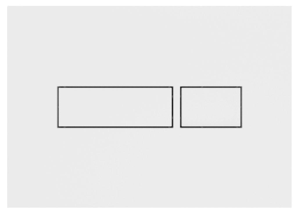 Plaque de commande pour bâti support HOME - Plaque de commande BLANCHE