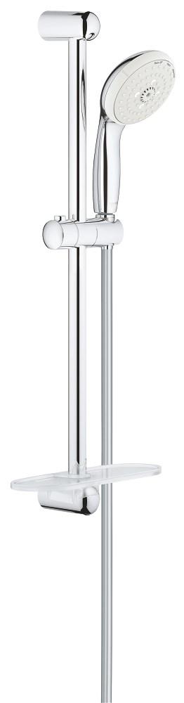 Barre de douche NEW TEMPESTA 100 - douchette 3 jets - Chromé