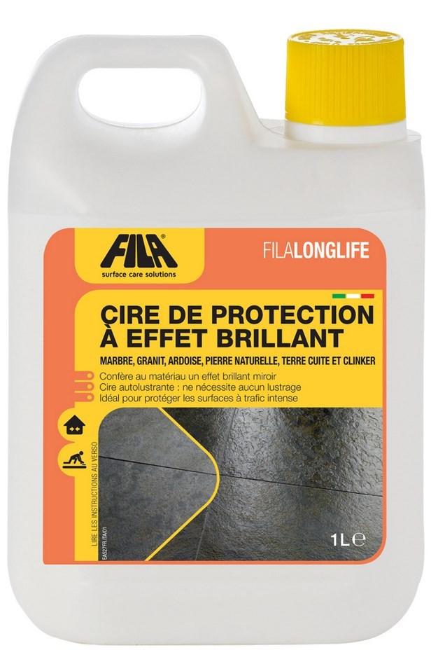 Cire de protection à effet brillant FILALONGLIFE - Le bidon de 1 litre