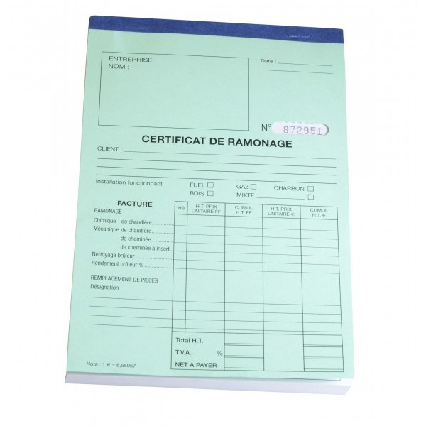 Carnet certificat annuel ramonage diff for Modele certificat de ramonage gratuit