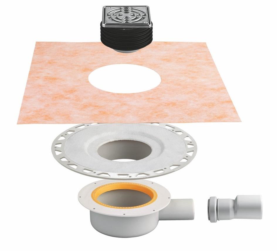 kit complet siphon extra plat grille cadre kerdi drain sanitaire distribution. Black Bedroom Furniture Sets. Home Design Ideas