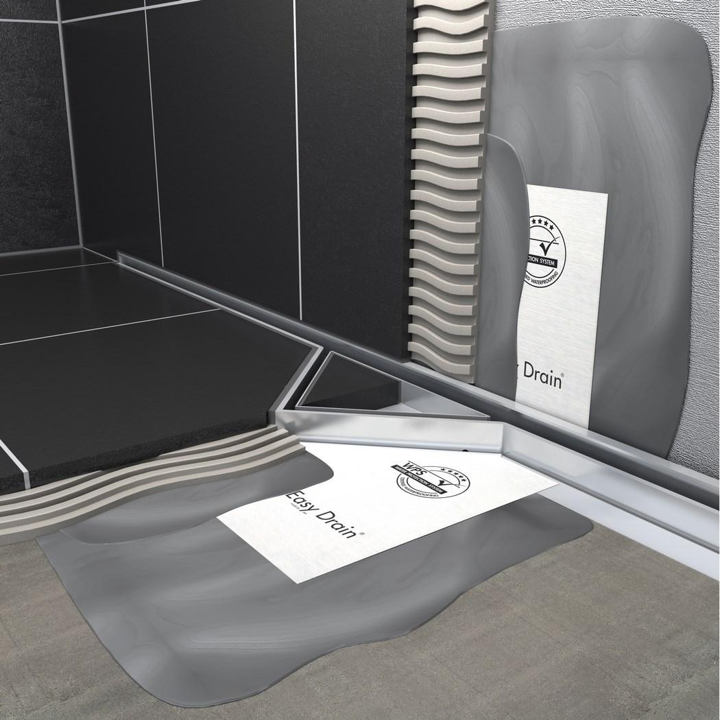 Caniveau pour douche l 39 39 italienne s line easy drain - Carreler douche italienne ...