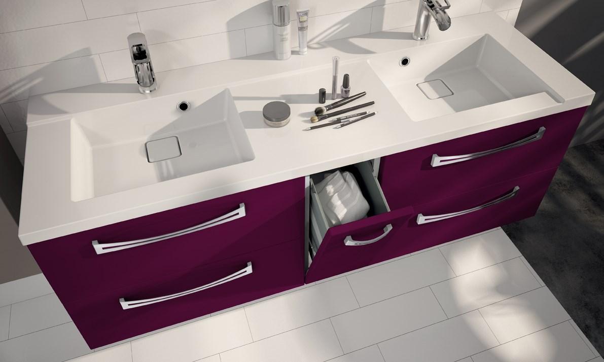Salle De Bain Occasion Marseille ~ meuble sous plan de toilette 140 cm brooklin suspendre aquarine