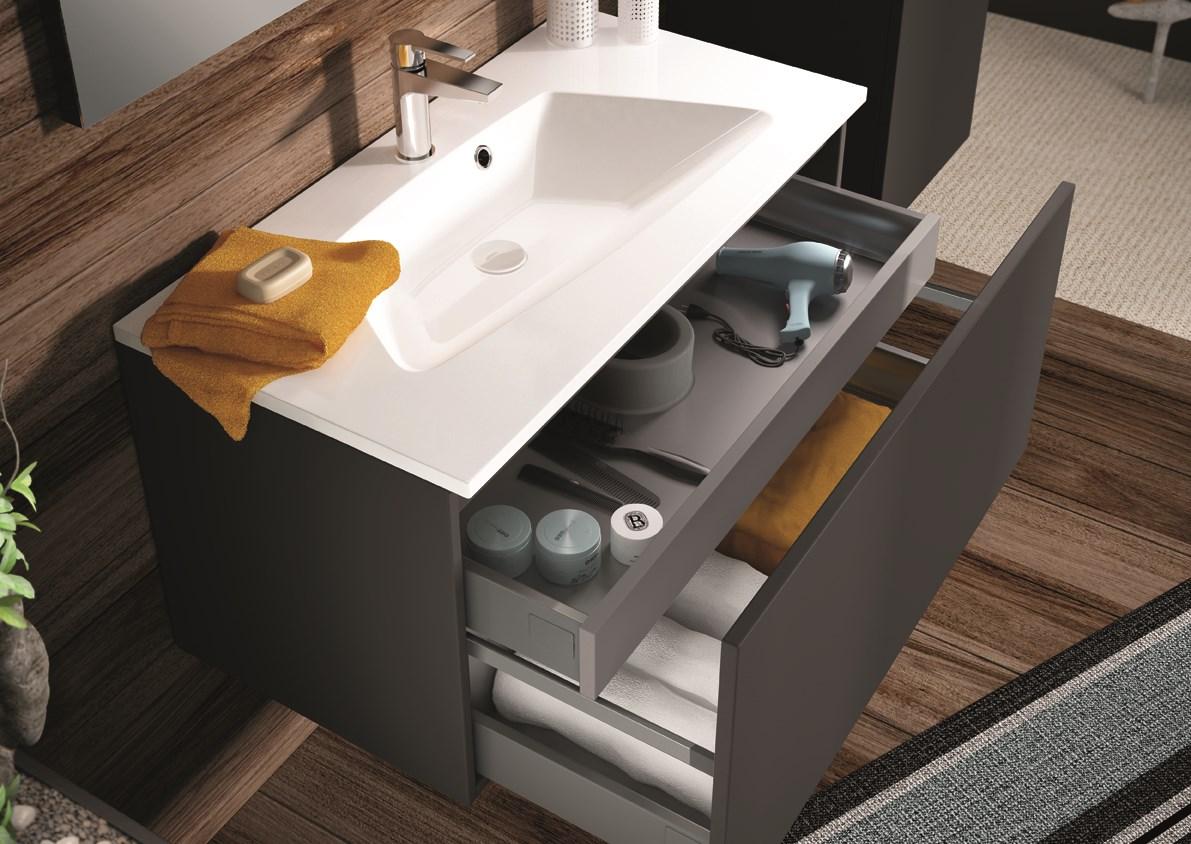Salle De Bain Mineral ~ meuble sous plan de toilette 120 cm min ral aquarine