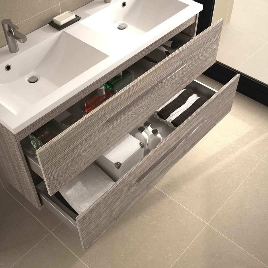 meuble sous vasque 2 tiroirs 120 cm srie adesio 3 adesio. Black Bedroom Furniture Sets. Home Design Ideas