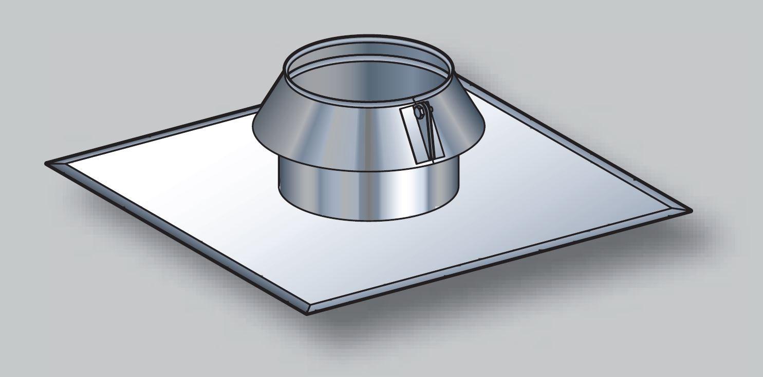 solin inox toit plat avec collerette condensor sio. Black Bedroom Furniture Sets. Home Design Ideas
