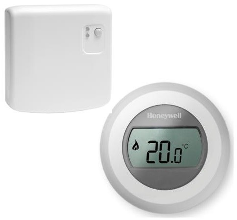 Thermostat d 39 39 ambiance sans fil radio command honeywell - Thermostat d ambiance filaire ...