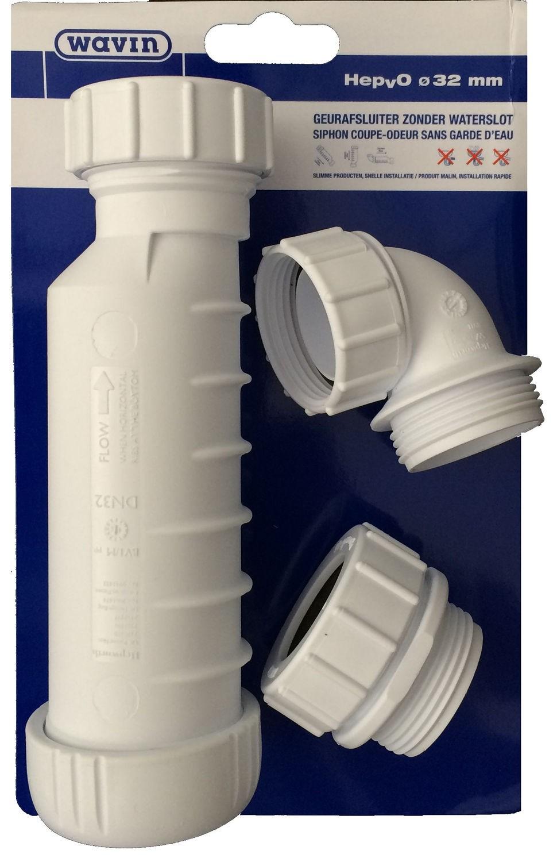 siphon hepvo coupe odeur sans garde d 39 39 eau wavin. Black Bedroom Furniture Sets. Home Design Ideas