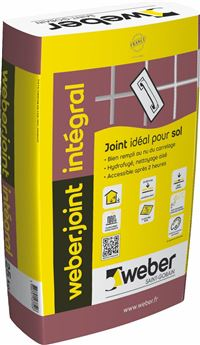WEBER ET BROUTIN Mortier pour joints de carrelage WEBER JOINT INTEGRAL