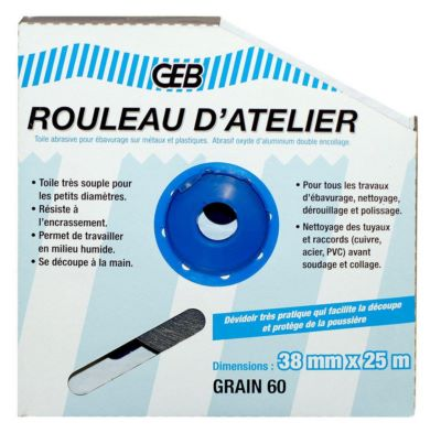 Photo de l'article GEB Rouleaux d''atelier (grain 120)