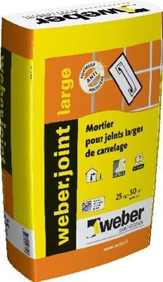 WEBER ET BROUTIN Mortier pour joints de carrelage WEBER.JOINT LARGE