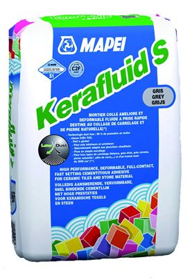 Mortier colle dformable pour carrelage c2 kerafluid s mapei for Colle souple pour carrelage