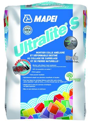 Photo de l'article MAPEI Mortier-colle pour carrelage (C2 S1 ET) ULTRALITE S1