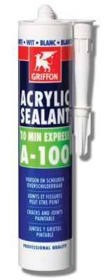 Photo de l'article GRIFFON Mastic acrylique ACRYLIC SEALANT A-100
