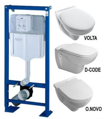 Photo de l'article Sanitaire-distribution Ensemble Bâti support GROHE avec cuvette suspendue