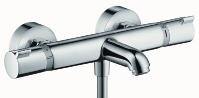 Mitigeur thermostatique bain douche mural ECOSTAT FORT HANSGROHE