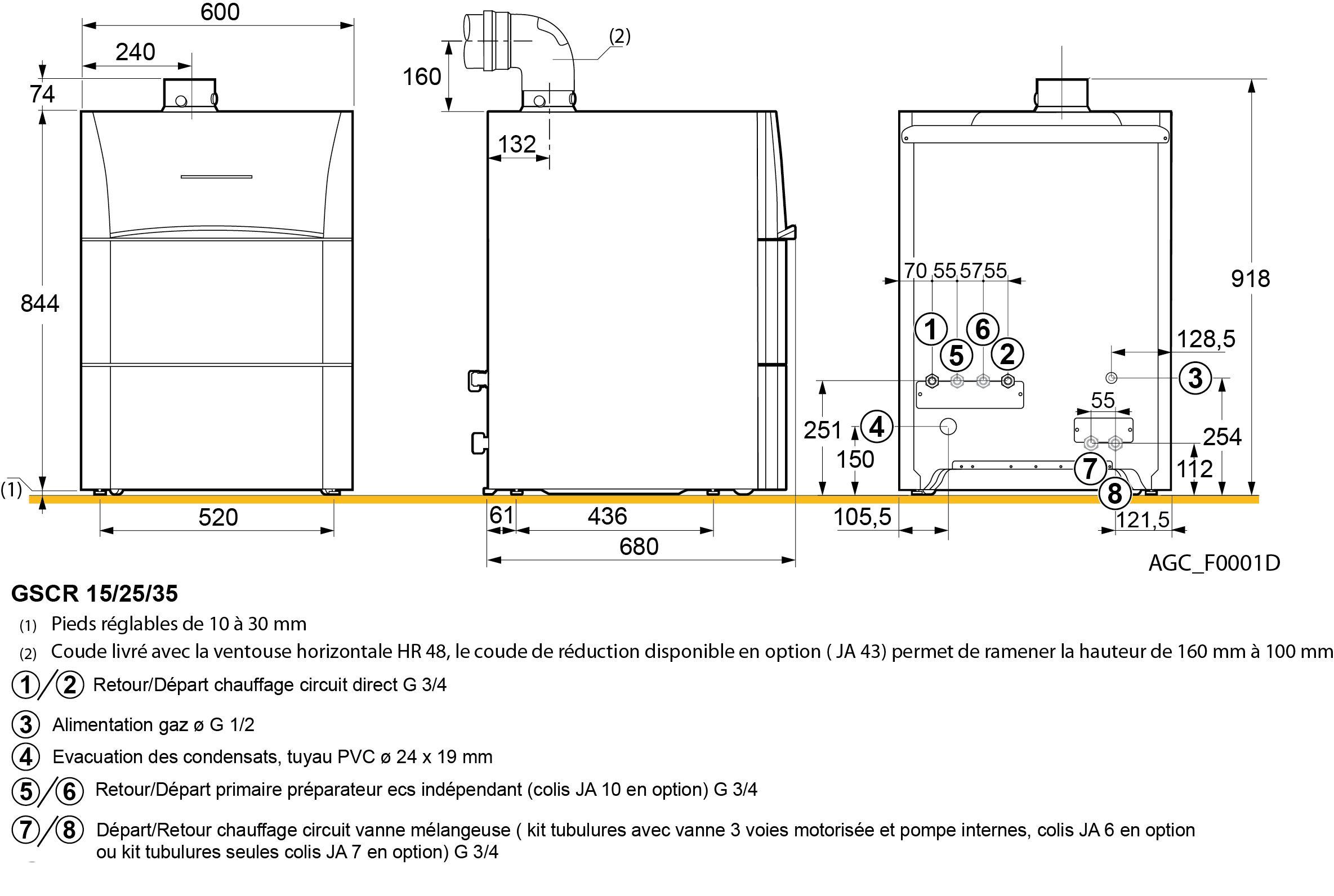 Chaudire au sol condensation oenoviagaz confort chauffage for Chaudiere piscine