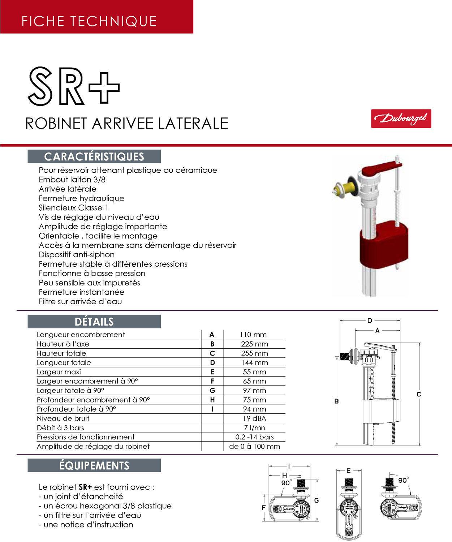 Robinet arrive latrale sr dubourgel for Fiche technique cuisine collective