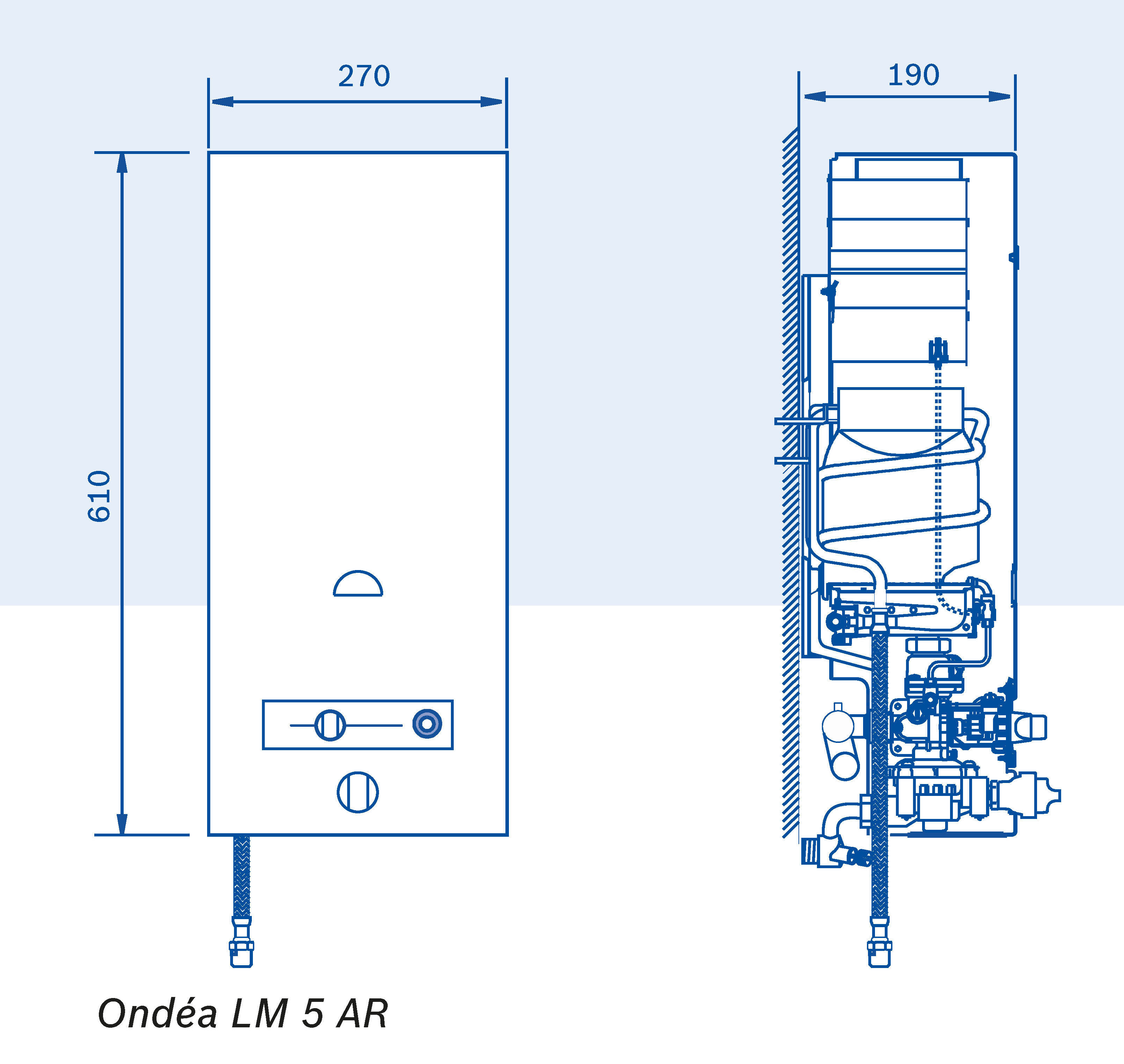 chauffe eau gaz production instantane ondea avec coupe tirage anit refouleur elm leblanc. Black Bedroom Furniture Sets. Home Design Ideas