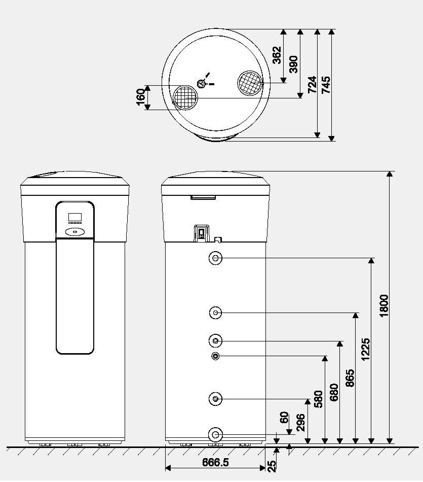 Chauffe eau thermodynamique compress 3000 dwfi et 3000 for Avis chauffe eau thermodynamique