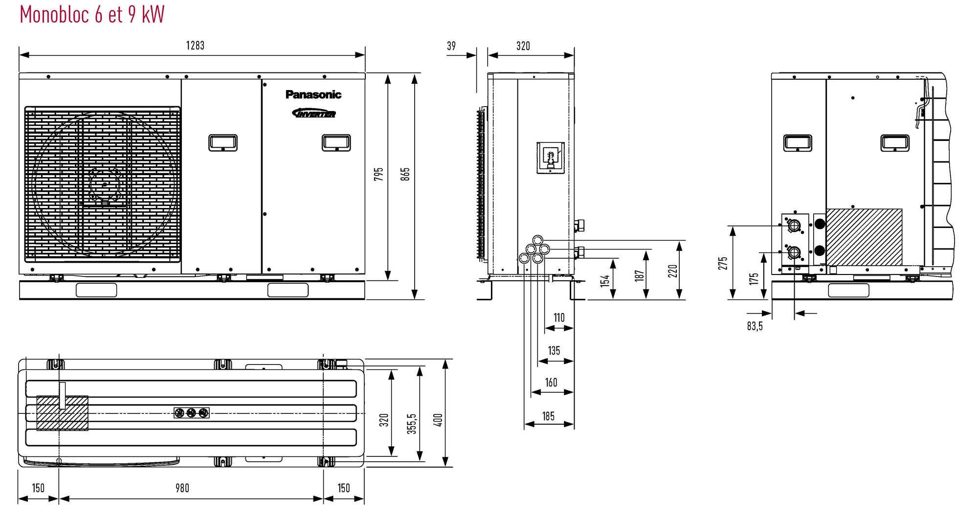 pompe chaleur air eau aquarea monobloc haute performance chauffage seul panasonic. Black Bedroom Furniture Sets. Home Design Ideas