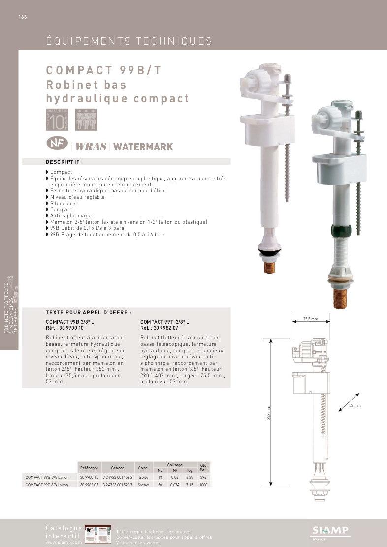 Robinet Flotteur Compact 99 B Siamp