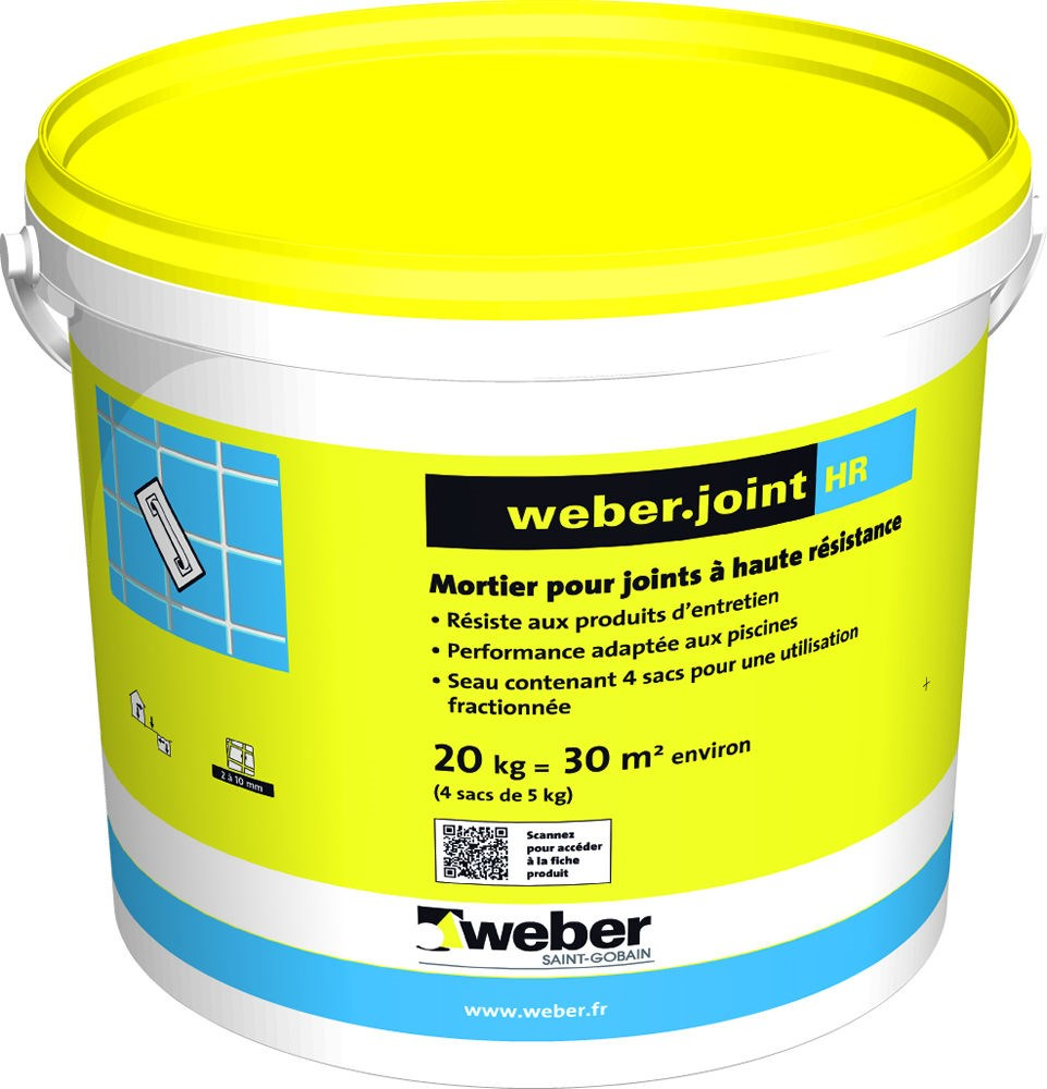 Mortier pour joints de carrelage WEBER.JOINT HR WEBER