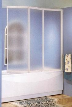Paroi de baignoire 3 panneaux repliables novellini - Paroi de baignoire ikea ...